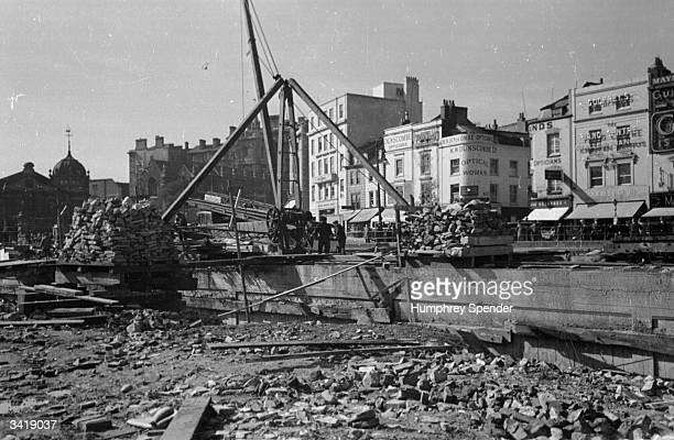 A construction site in Bristol city centre which is being rebuilt under the city council's 9000 five year plan Original Publication Picture Post 189...