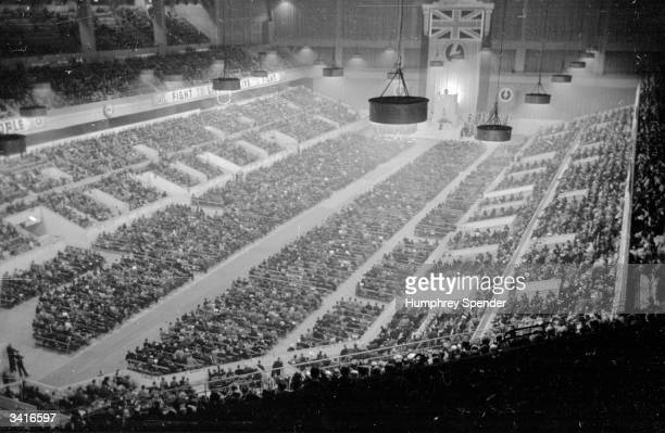 A meeting of the British Union of Fascists at Earl's Court London where Sir Oswald Ernald Mosley founder of the BUF makes a two hour speech Original...