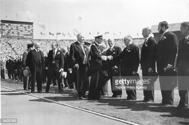 The 1948 Olympics are opened by King George VI at Wembley Stadium London