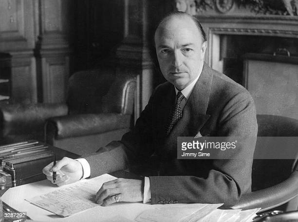 Mr John Profumo the new Secretary of State for War at the War Office before the scandal of his affair with callgirl Christine Keeler