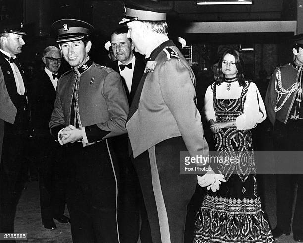 Charles Prince of Wales and Lady Jane Wellesley daughter of the Duke of Wellington arriving at the final night of the Royal Tournament in Earl's...