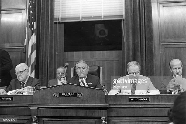 The Judiciary Committee Impeachment Panel gathered to hear evidence in the Watergate affair eventually leading to the impeachment of President Nixon...