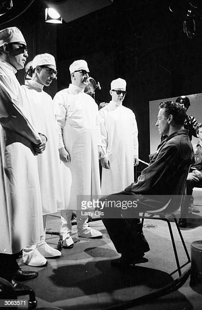 An interrogation scene from the BBC TV production of George Orwell's classic novel '1984'