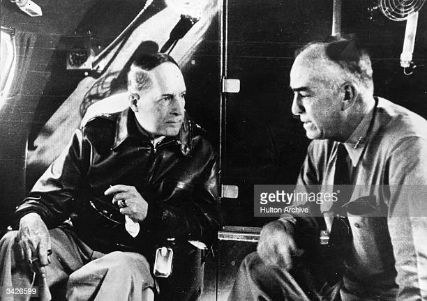 American military leaders General MacArthur CommanderinChief of Allied Forces in the Southwest Pacific and Vice Admiral Thomas C Kincaid Commander of...