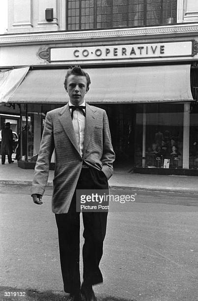 One of the fashionable Teddy Boys who have been branded hooligans juvenile gangsters and delinquents Original Publication Picture Post 7169 The Truth...
