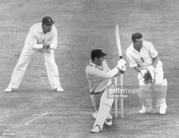 Graham Dowling of New Zealand batting against England at Edgbaston