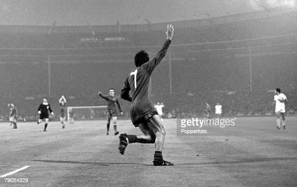 29th MAY 1968 European Cup Final Wembley London Manchester United v Benefica Manchester United's George Best celebrates after scoring his side's...