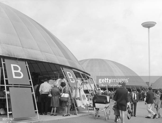 The new market at Pitsea near Basildon Essex which comprises of four plasticcovered domes made of steelpipe each dome housing 52 stalls The new...