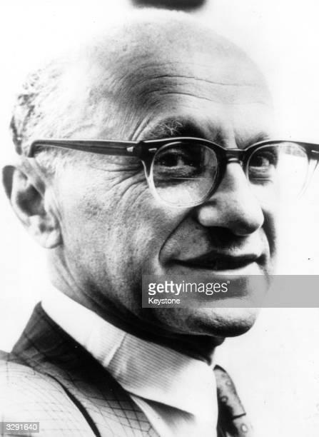 Milton Friedman, the Nobel prize-winning economist who developed the theory of monetarism.