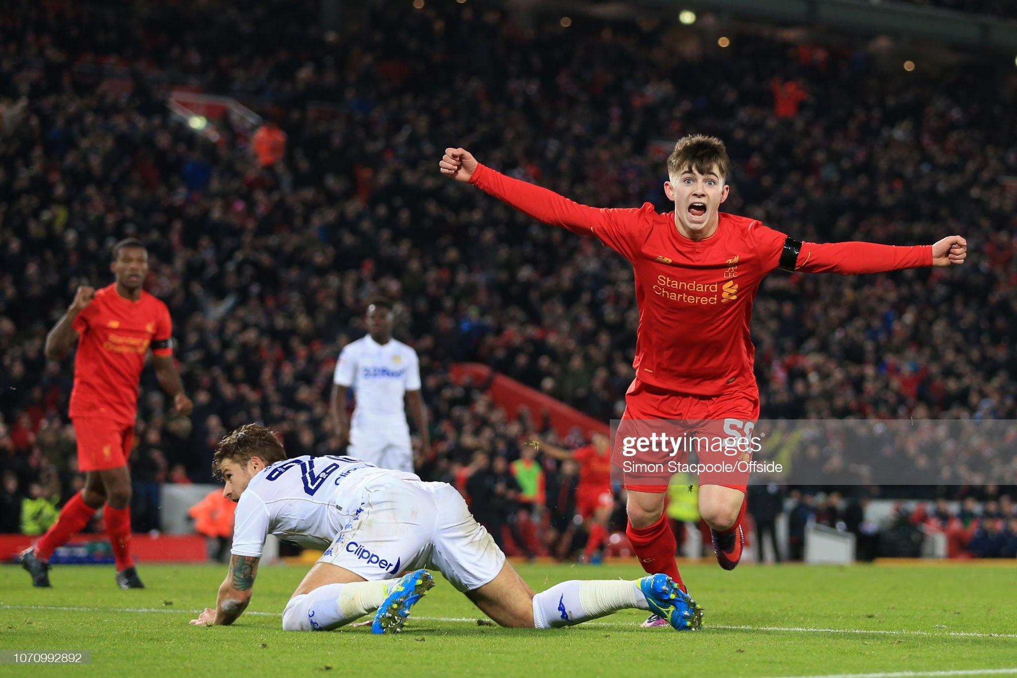 Football - EFL Cup (Quarter-Final) - Liverpool v Leeds United : News Photo