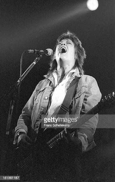 29th NOVEMBER: Katrina Leskanich from Katrina & the Waves performs live on stage at the Paradiso in Amsterdam, Netherlands on 29th November 1986.