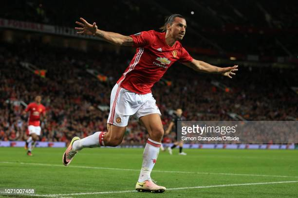29th September 2016 UEFA Europa League Group A Manchester United v FC Zorya Luhansk Zlatan Ibrahimovic of Man Utd celebrates after scoring their 1st...
