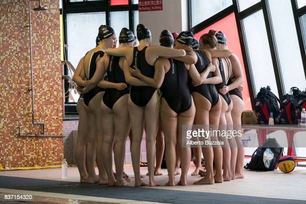 29th Universiade Taipei 2017 New Zealand female water polo team preparing before the game against Russia during the Taipei Universiade 2017 New...