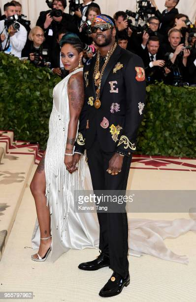 2Chainz and Kesha Ward Epps at Heavenly Bodies Fashion The Catholic Imagination Costume Institute Gala at the Metropolitan Museum of Art on May 7...