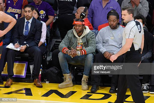 2Chainz attends a basketball game between the Atlanta Hawks and the Los Angeles Lakers at Staples Center on November 27 2016 in Los Angeles California
