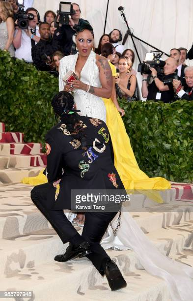 2Chainz proposes to Kesha Ward Epps at Heavenly Bodies Fashion The Catholic Imagination Costume Institute Gala at the Metropolitan Museum of Art on...