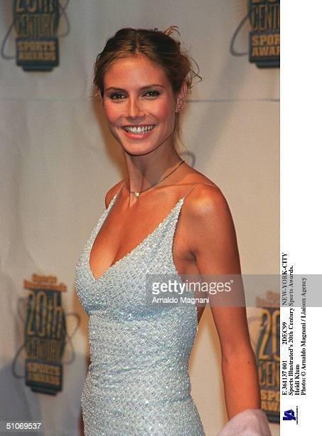 E 361137 001 2Dec99 NewYorkCity Sports Illustrated's 20Th Century Sports Awards Heidi Klum