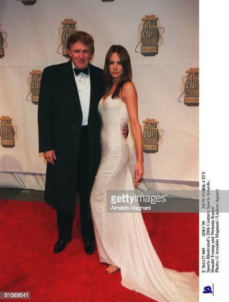 E 361137 005 2Dec99 NewYorkCity Sports Illustrated's 20Th Century Sports Awards Donald Trump And Melania Knauss