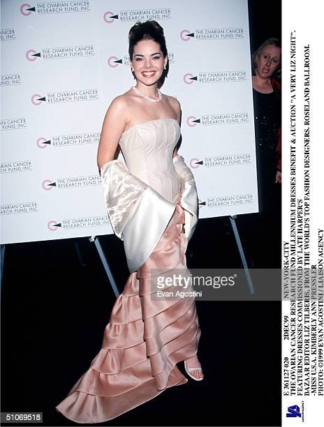 E 361127 020 2Dec99 NewYorkCity The Ovarian Cancer Research Fund Millennium Dresses Benefit Auction A Very Liz Night Featuring Dresses Commissioned...
