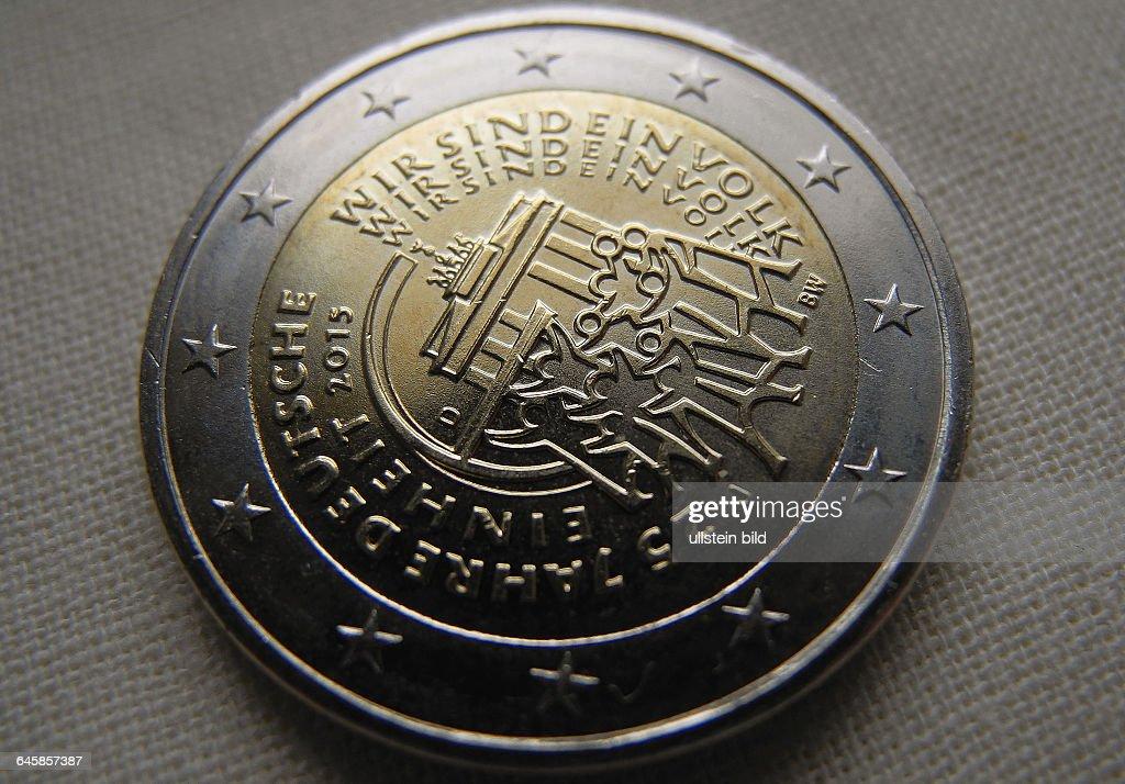 2 Euro Muenze 2015 Mit Dem Schriftzug Wir Sind Ein Volk Pictures