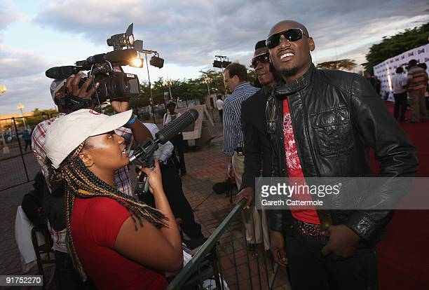 2Face arrives at the MTV Africa Music Awards with Zain at the Moi International Sports Centre on October 10 2009 in Nairobi Kenya