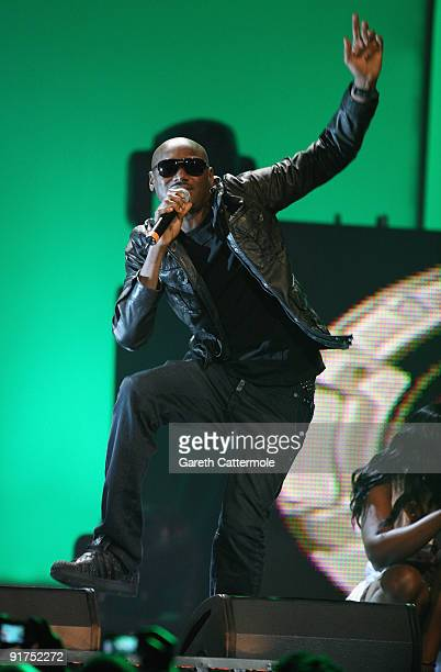 2Face performs on stage at the MTV Africa Music Awards with Zain at the Moi International Sports Centre on October 10 2009 in Nairobi Kenya