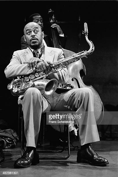 American jazz sax player Archie Shepp performs at the BIM Huis in Amsterdam Netherlands on 2nd September 1989