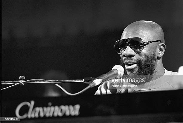 2nd: American musician and actor Isaac Hayes performs at the Paradiso in Amsterdam, Netherlands on 2nd October 1989.