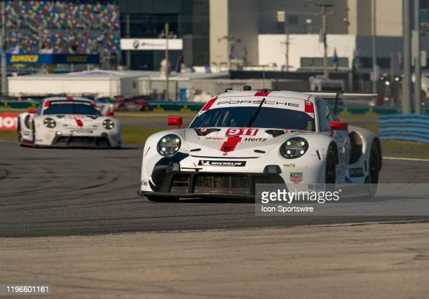2nd and 3rd place Winners GT Le Mans Porsche GT Team driver Nick Tandy Frederic Makowiecki Matt Campbell of Porsche 911 RSR19 and GT Le Mans Porsche...