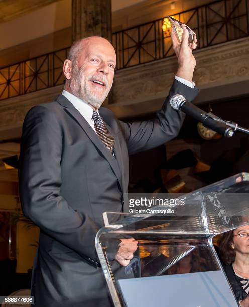 2nd annual Lumiere Award recipient Bruce Willis attends the 2nd Annual Lumiere Award Celebration during The 26th Philadelphia Film Festival at AKA...
