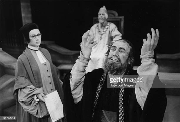 British actor Roger Wreford as Shylock during a production of Shakespeare's 'The Merchant of Venice' at Bristol's Theatre Royal Original Publication...