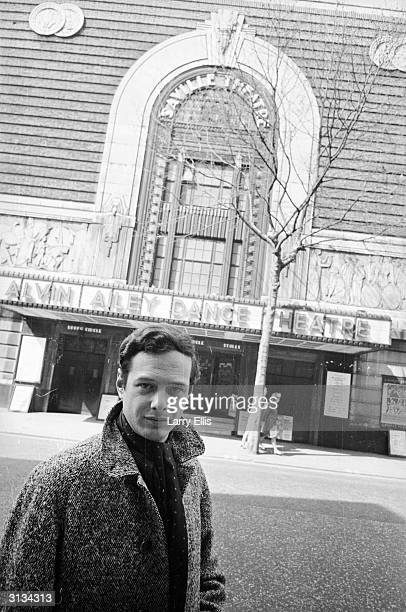 Brian Epstein manager of pop groups The Beatles Gerry The Pacemakers Billy J Kramer and Cilla Black outside the Saville Theatre