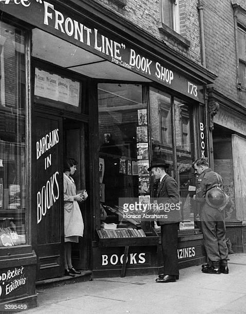 The 'Front Line' bookshop in Dover named after being the target of so many enemy shells