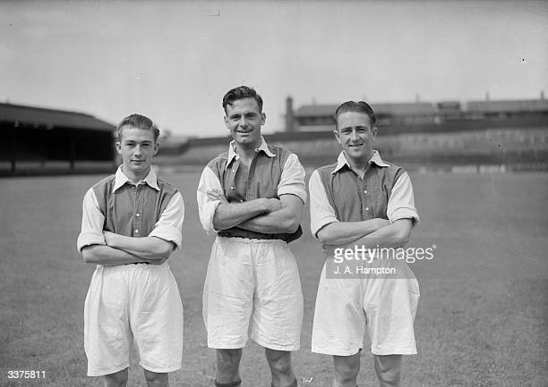 J McKay E Duggan and W Muir of Queens Park Rangers Football Club