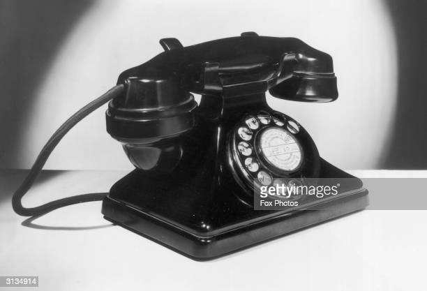 A British telephone handset with dial