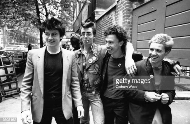 A group of punks with a teddy boy