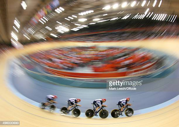 2nd August 2012 London 2012 Olympic Games Cycling Men's 400m Team Pursuit Qualifying Great Britain