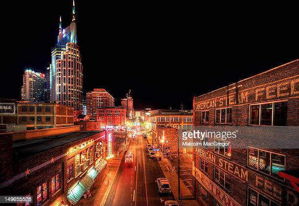 2nd avenue in nashville - nashville stock pictures, royalty-free photos & images