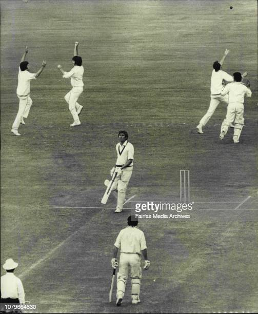2nd Cricket Test at SCG Australia Vs New ZealandSheahan caught by Coney for 7 off AndrewsPaul Sheahan cannot see the jubilation but can hear as the...
