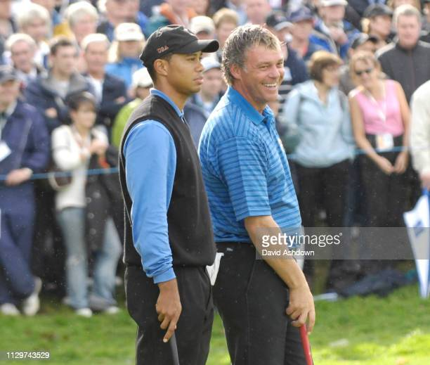 2nd DAY FOURBALL. TIGER WOODS AND DAREN CLARK 23/9/2006.