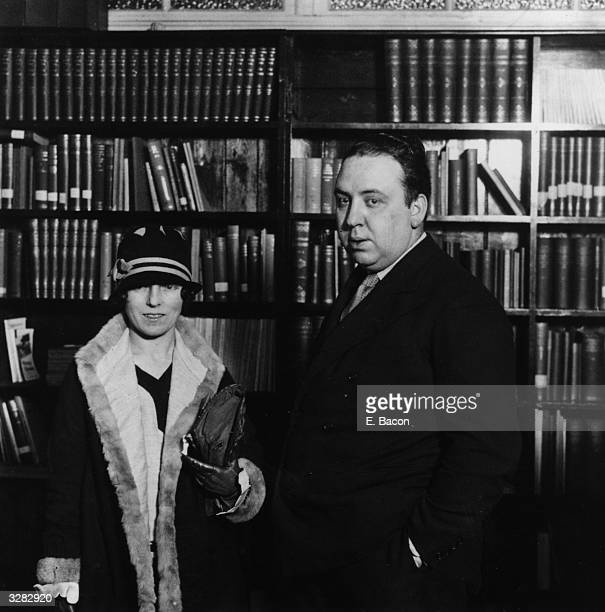 British director Alfred Hitchcock with his wife the screenwriter Alma Reville