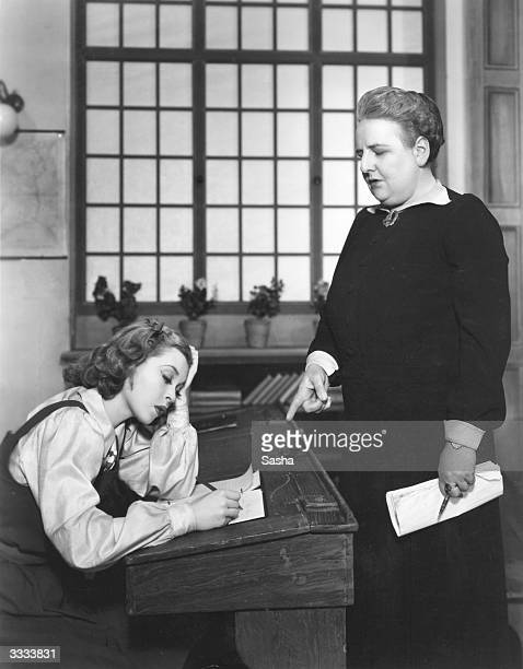 Lilli Palmer in a scene from the play 'Little Ladyship', at the Strand Theatre in London.