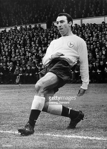 English footballer Jimmy Greaves in action.