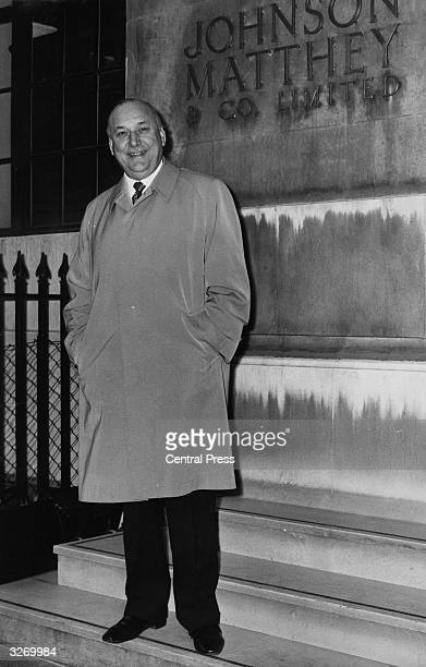 Lord Robens, former Chairman of the Coal Board, appointed Chairman of Johnson Matthey, the Hatton Garden gold bullion dealers, seen arriving at...