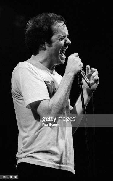 Lead singer Gordon Downie from Canadian band The Tragically Hip performs live on stage at Nightown in Rotterdam Netherlands on 2nd February 1993