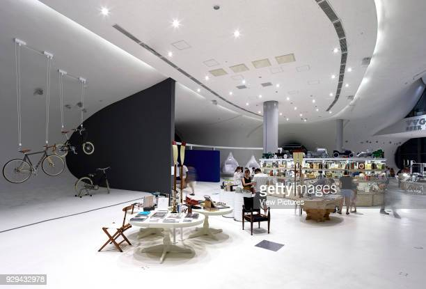 2nd floor Gift shop area and exhibition space National Taichung Theater Taichung China Architect Toyo Ito 2016
