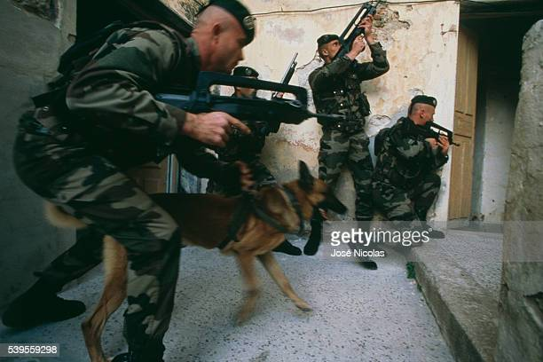 2nd Foreign Parachute Regiment training in Calvi