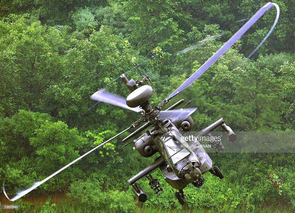A US 2nd Infantry Division AH-64 Longbow : News Photo
