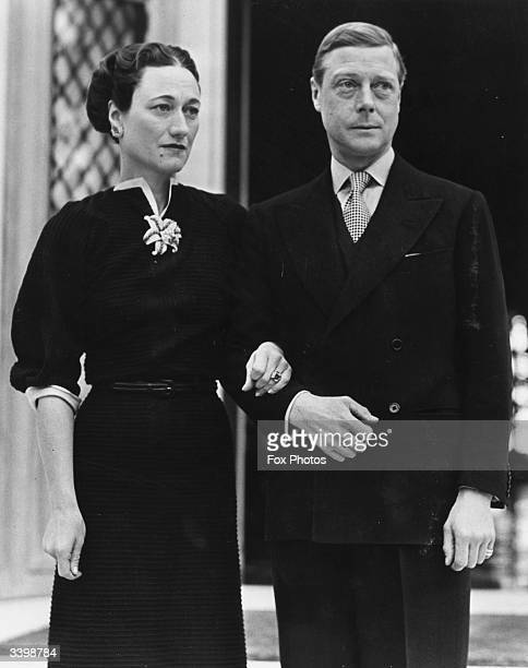 The Duke and Duchess of Windsor at their home the Villa La Croe in Cap D'Antibes France where they spent the New Year