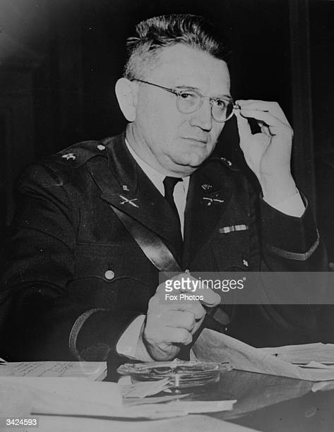 Brigadier General Lewis B Hershey who is in charge of the American Selective Service which hopes to enroll seven and a half million men in the US Army